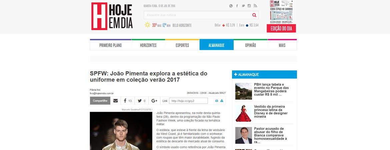 Clipping: Jornal Hoje em Dia (circulação em MG)