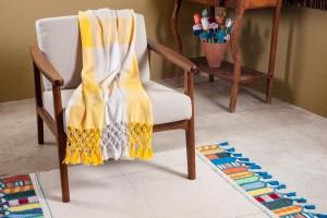 Linha de produtos da Santa Luzia Redes e Decoração desenvolvidos com o algodão colorido da Paraíba.